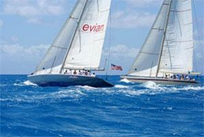 Photo of America's Cup yachts sailing in St. Maarten