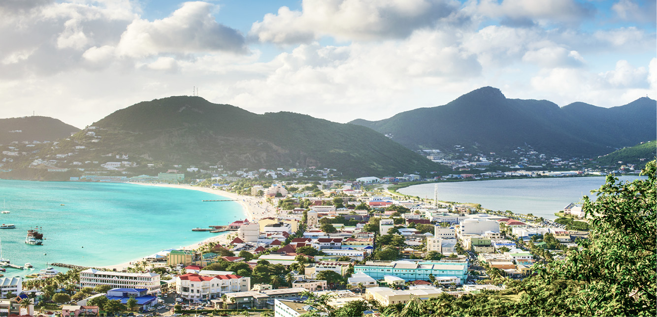 Scenic view of St. Maarten at day